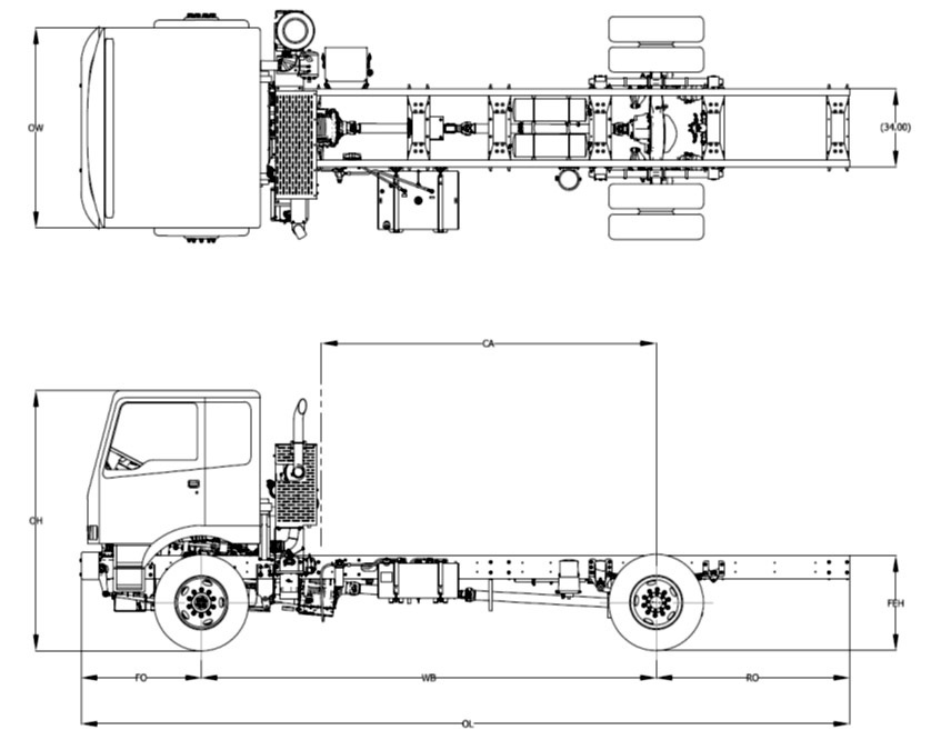 What Are The Dimensions Of A Semi Truck : Rainier truck and chassis pacific northwest custom coe